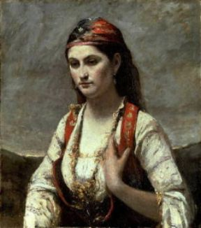 Jean-Baptiste Camille Corot. L'Albanese (New York, Brooklyn Museum).New York, Brooklyn Museum