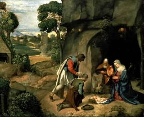Giorgione. Adorazione dei pastori (Washington, National Gallery).De Agostini Picture Library