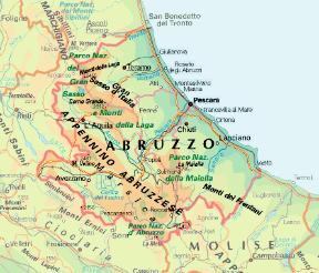 Abruzzo Cartina Politica Dettagliata.Abruzzo O Abruzzi Sapere It