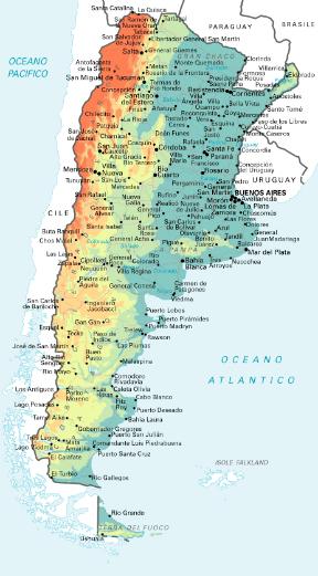 Patagonia Cartina Geografica.Argentina Stato Sapere It