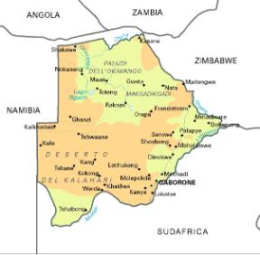 Cartina Politica Africa In Italiano.Botswana Sapere It