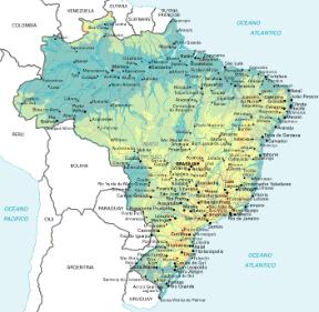 Cartina Fisica America Latina.Brasile Sapere It