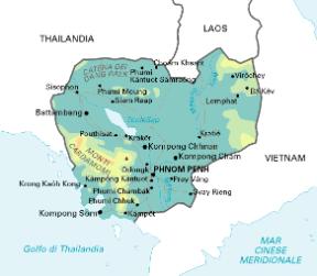 Tra Vietnam E Thailandia Cartina Geografica.Cambogia Sapere It