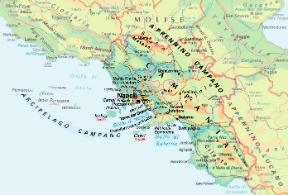 La Cartina Geografica Della Campania.Campania Sapere It