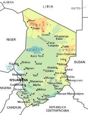 Cartina Geografica Dell Africa Fisica.Ciad Sapere It