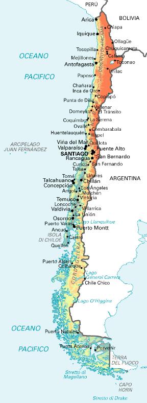 Patagonia Cartina Geografica.Cile Sapere It