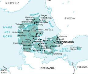 Cartina Geografica Norvegia Fisica.Danimarca Sapere It