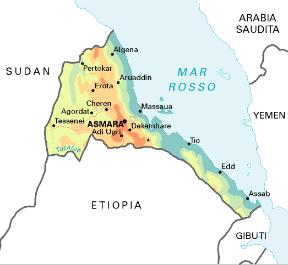 Cartina Eritrea.Eritrea Sapere It
