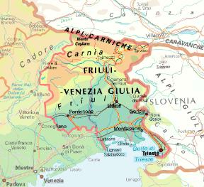 Cartina Friuli E Veneto.Friuli Venezia Giulia Sapere It