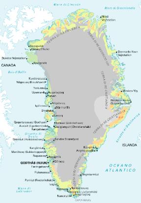 Cartina Geografica Della Groenlandia.Groenlandia Sapere It