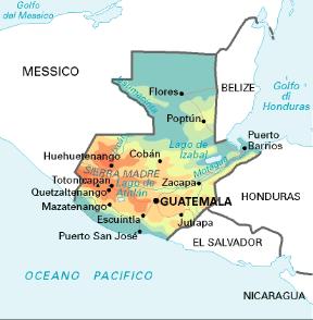 Cartina Politica Messico.Guatemala Stato Sapere It