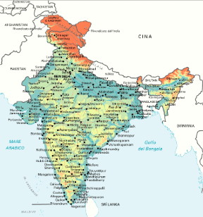India Meridionale Cartina Geografica.India Sapere It