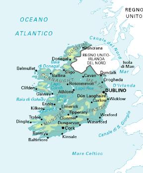 Cartina Geografica Irlanda Del Sud.Irlanda Sapere It