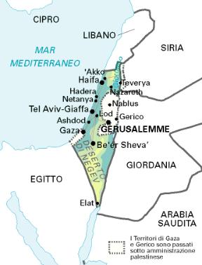 Cartina Stato Di Israele.Israele Stato Sapere It