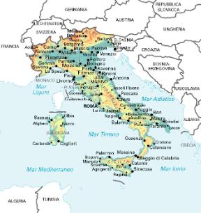 Cartina Italia Monti E Fiumi.Italia Geografia E Storia Sapere It