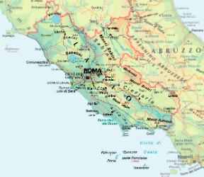 Cartina Geografica Lazio Umbria.Lazio Sapere It