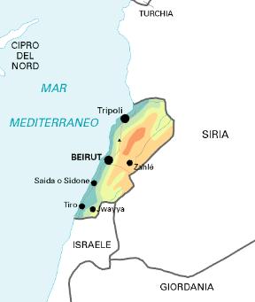 Cartina Fisica Del Libano.Libano Stato Sapere It