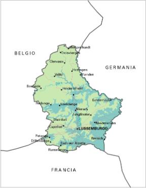 Cartina Olanda Fisica.Lussemburgo Stato Sapere It
