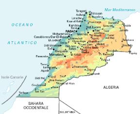 Marocco Cartina Geografica Fisica.Marocco Sapere It