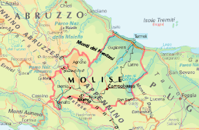 Il Molise Cartina.Molise Regione Sapere It