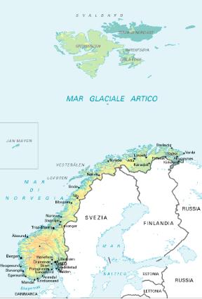 Cartina Muta Della Penisola Scandinava.Norvegia Sapere It