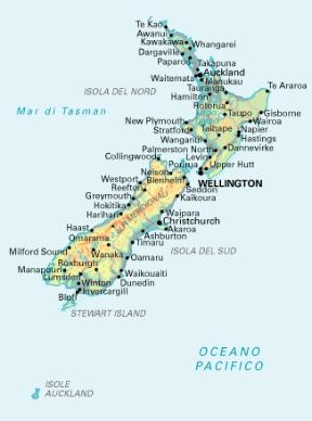 Cartina Nuova Zelanda.Nuova Zelanda Sapere It
