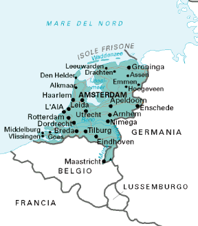 Paesi Bassi Cartina Fisica Olanda.Paesi Bassi Sapere It