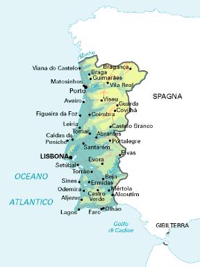 Cartina Geografica Algarve.Portogallo Stato Sapere It