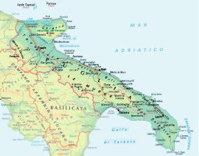 Cartina Puglia E Molise.Puglia Sapere It