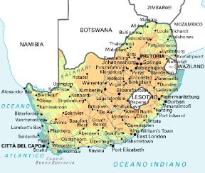 Cartina Africa Sud.Sudafrica Sapere It