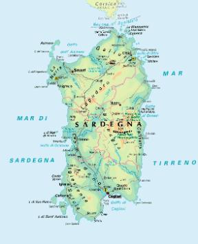 Cartina Sardegna Tharros.Sardegna Sapere It