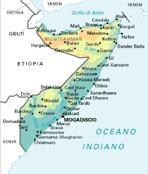 Cartina Geografica Italia Africa.Somalia Sapere It