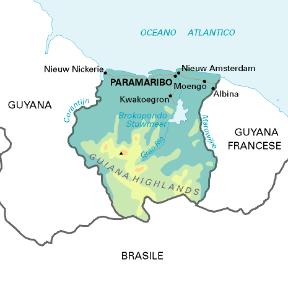 Olanda Cartina Fisica.Suriname Stato Sapere It