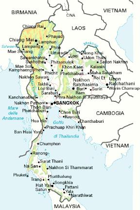 Tra Vietnam E Thailandia Cartina Geografica.Thailandia Sapere It