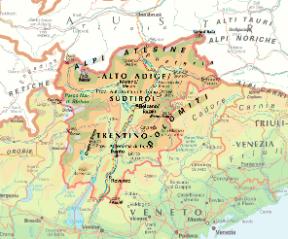 Cartina Del Trentino Alto Adige Politica.Trentino Alto Adige Sudtirol Sapere It