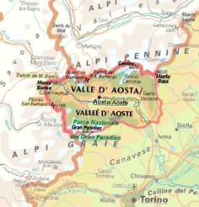 Cartina Valle D Aosta Stradale.Valle D Aosta Vallee D Aoste Sapere It