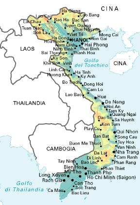 Tra Vietnam E Thailandia Cartina Geografica.Viet Nam Sapere It